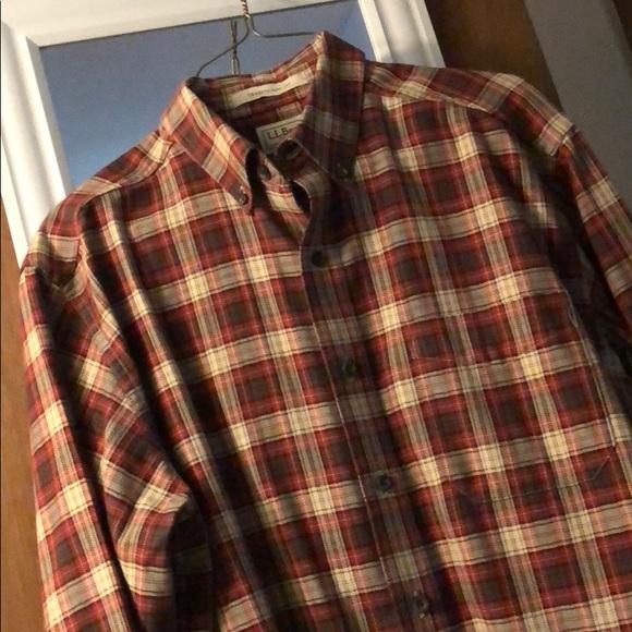 c1c72814446 L.L. Bean Other - LL Bean Men s Red Plaid Flannel Shirt Kurt Cobain